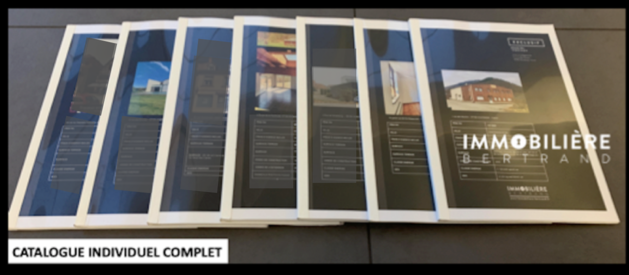 Unique dans la profession, Création d'un CATALOGUE de 80 à 120 pages, pour chaque bien immobilier.